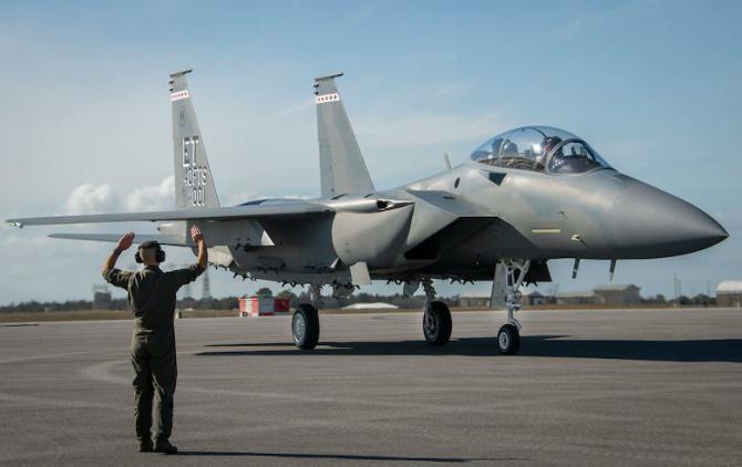 F-15 EX Sursa foto: Twitter/US Air Force Base Eglin