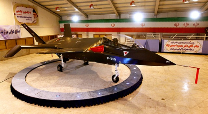 F-313 Qaher, prezentat de iranieni în 2013. Sursă foto: FlightGlobal.com