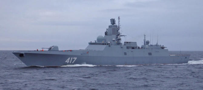 Fregata Amiral Gorshkov Rusia  Sursa foto: Twitter