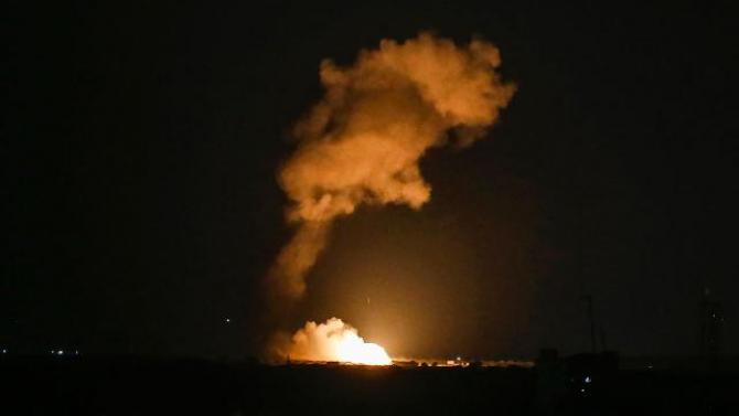 Israel bombardament Sursa foto: Twitter/ Avichay Adraee