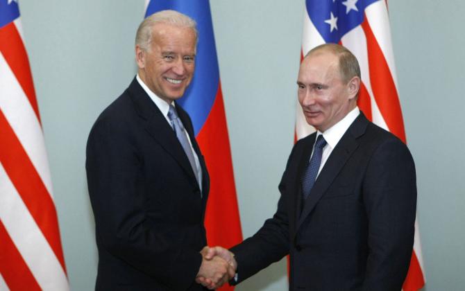 Joe Biden si Vladimir Putin  Sursa foto: Twitter/BBC