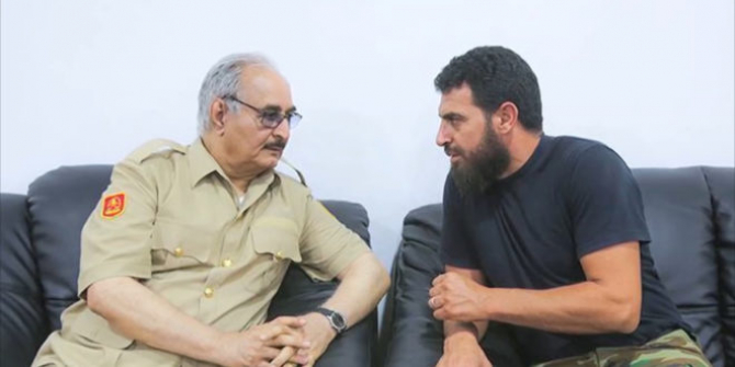 Khalifa Haftar si Mahmoud al-Werfalli  Sursa foto: Twitter/Libia Observer