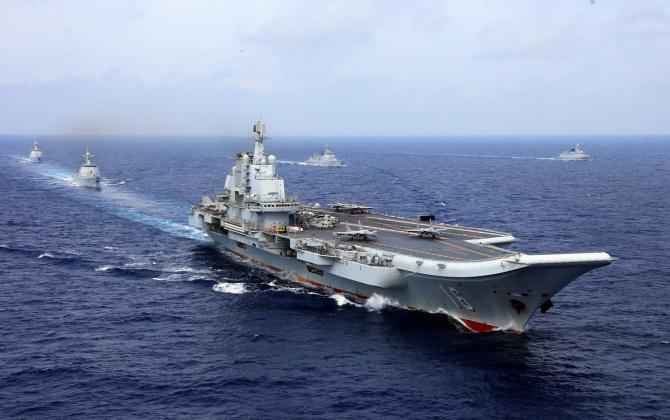 Portavionul chinez Liaoning și grupul său de luptă navală, sursă foto: Ministerul Apărării din China