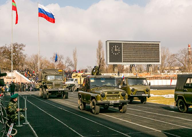 Militari ruși, în Transnistria. Sursă foto: Ministerul Apărării de la Moscova