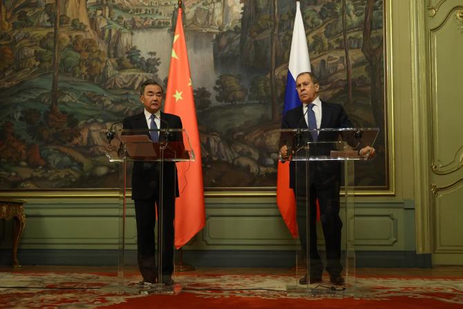 Serghei Lavrov si Wang Yi  Sursa foto: Twitter