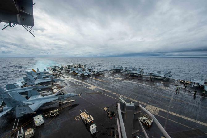 USS Dwight D. Eisenhower, sursă foto: US Navy