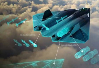 Imagine concept - NGAD (Next Generation Air Dominance), viitorul avion de generația a 6-a al SUA. Sursă foto: US Air Force