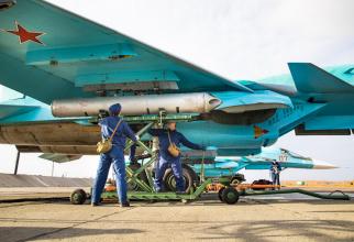 Bombardiere rusești Su-34, sursă foto: Ministerul Apărării din Rusia