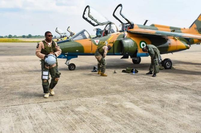 Aeronavă Dassault Alpha Jet a Nigeriei, sursă foto: Defense News Nigeria @DefenseNigeria Twitter
