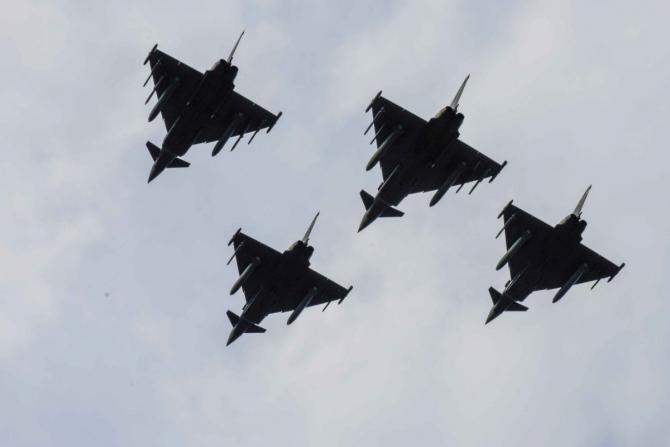 Avioane Eurofighter Typhoon din Spania și Italia Sursa foto: NATO