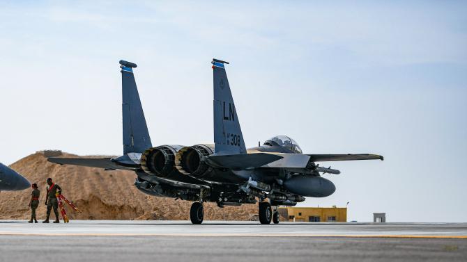F-15E  Sursa foto: US AFCENT