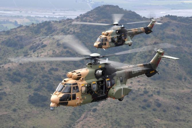 Elicoptere militare H215M ale statului Chile. Sursă foto: Airbus