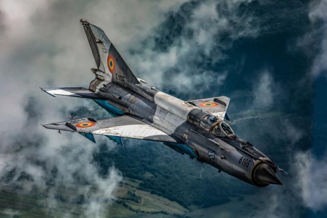 MiG-21 LanceR, sursă foto: Forțele Aeriene Române