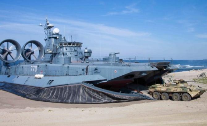 Navă de desant maritim a Federației Ruse, sursă foto: Ministerul Apărării de la Moscova