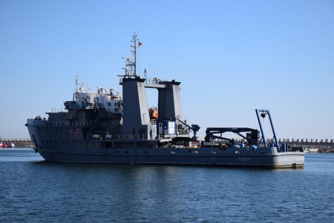 """Nava maritimă hidrografică """"Căpitan-comandor Alexandru Cătuneanu""""  Sursa foto: Forțele Navale Române"""