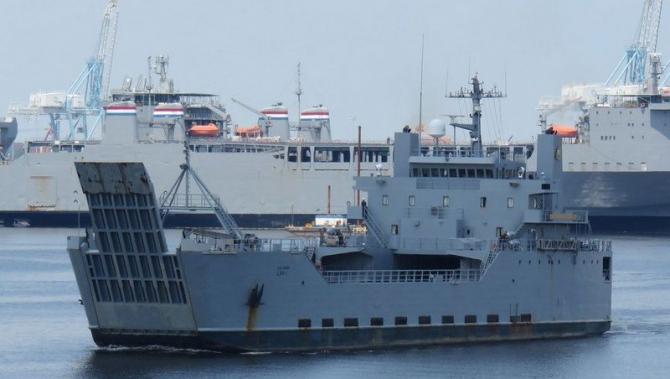 Nava transport clasa General Frank S. Besson  Sursa foto: Twitter
