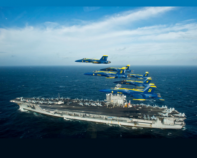Sursă foto: USS George H.W. Bush (CVN 77)