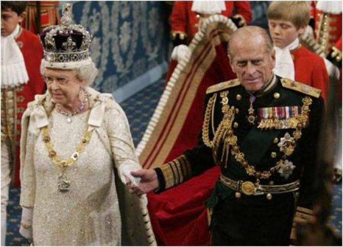 Regina Elisabeta a II-a a Marii Britanii și Prințul Filip