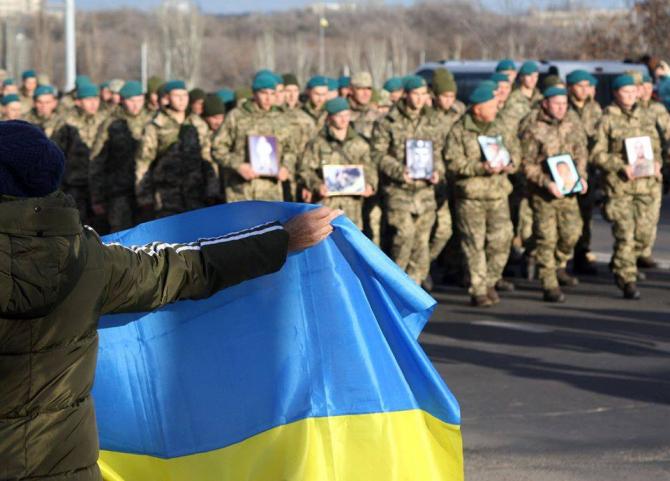 Armata Ucrainei, comemorându-i pe soldații căzuți în Donbas, sursă foto: Ministerul Apărării din Ucraina