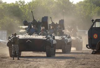 """Brigada 1 Mecanizată """"Argedava"""" participă cu efective și tehnică la exercițiul multinațional """"ARGEDAVA 21"""". Sursa Foto: MApN."""