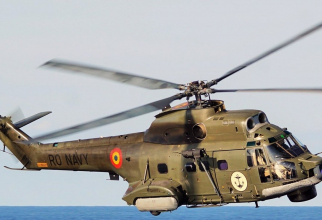 Un elicopter Puma Naval al Forțelor Navale Române. Sursa fota: NAVY.ro