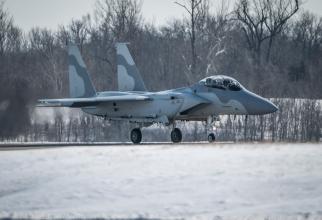 O aeronavă destinată statului Qatar: F-15QA. Sursă foto - Scott Air Force Base USA