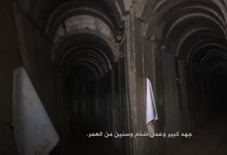 Rețea tuneluri Hamas Sursa foto: Captură video