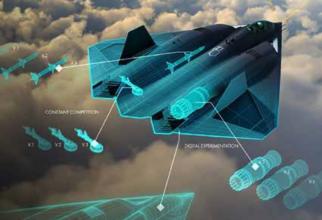 Prima imagine concept a viitoarei aeronave de generația a 6-a dezvoltată în cadrul programului NGAD (Next Generation Air Dominance).