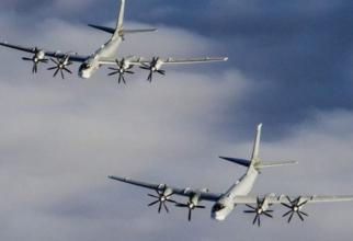 bombardiere strategice de tip Tu-95MS aparținând Forțelor Aerocosmice ale Federației Ruse