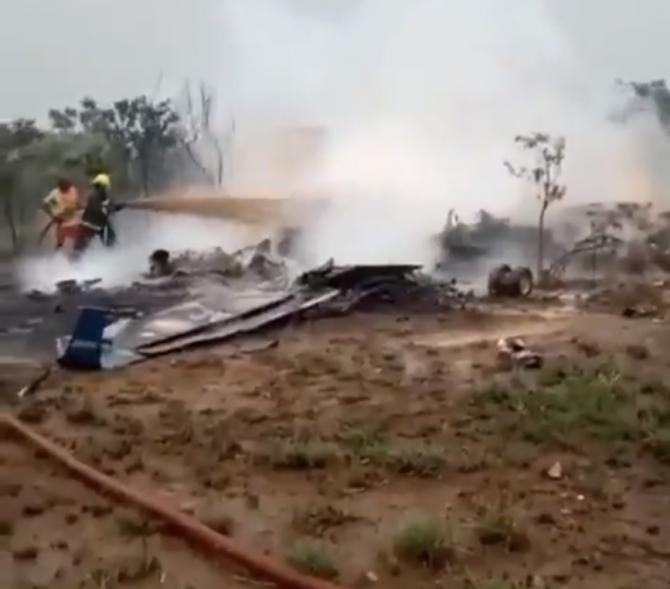 Avion militar prabusit in Nigeria Captura video: Sop Udates/Twitter