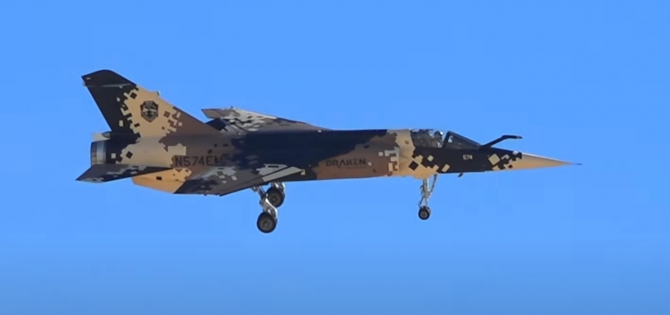 Avion Mirage F1 compania Draken Sursa foto: Captură video/Youtube