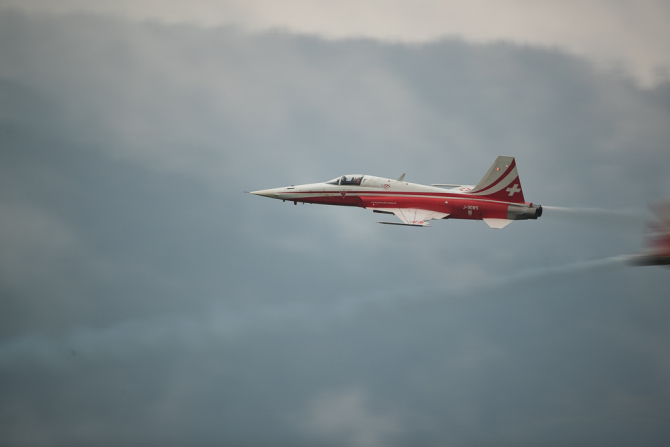 Un avion Tiger F-5 al forţelor aeriene elveţiene. Sursa Foto: Austrian Wings.