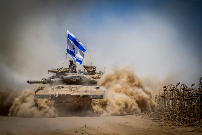 Tanc Merkava al Israelului, sursă foto: Wallpaper via. Israel Today