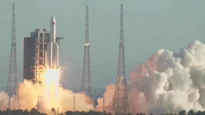 Lansarea rachetei chineze Long March 5B, sursă foto: Captură YouTube
