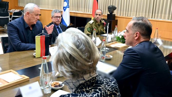Ministrul de Exerne al Gemaniei, Heiko Mass și ministrul Apărării din Israel, Benny Gantz Susra foto: Benny Gantz/Twitter