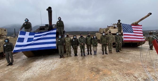 Operation Thracian Cooperation 21. Tancurile M1 Abrams şi Leopard 2 A6, exerciţiu comun în Grecia
