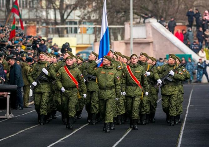 Soldați ruși în Transnistria. Sursă foto: Ministerul Apărării de la Moscova