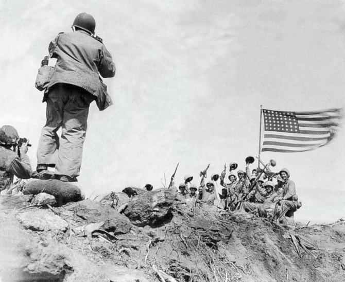 US Army, la Iwo Jima. Sursă foto: ABC News