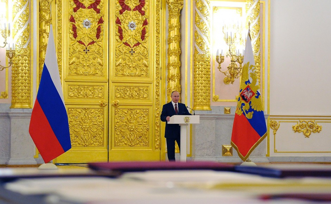 Preşedintele rus Vladimir Putin. Sursa Foto:Kremlin.ru