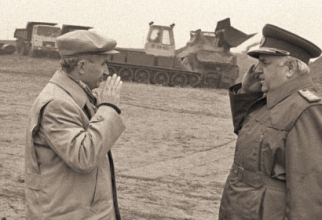 Nicolae Ceaușescu și generalul Vasile Milea