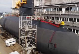 Foto: Modernizarea unui submarin din clasa Warlus al Forțelor Navale Regale Olandeze. Sursă foto: Damen