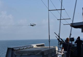 Fregata olandeză Evertsen, hărțuită în Marea Neagră de aviația militară rusă. Sursa foto: Ministerul Apărării din Olanda/Twitter