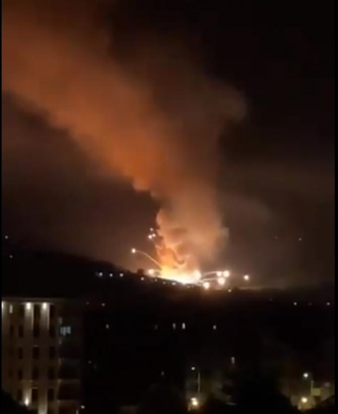 Explozie fabrică armament Cacak Serbia