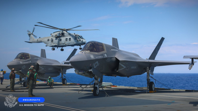 Avioane F-35B Lightning II. Sursa Foto: US Mission to NATO