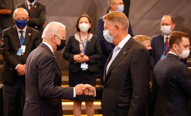 Joe Biden, președintele Statelor Unite ale Americii și Klaus Iohannis, președintele României. Sursă foto: Administrația Prezidențială