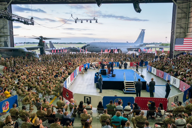 Președintele american Joe Biden, în timpul unui discurs adresat militarilor SUA. Sursă foto: President Joe Biden @Oficial guvernamental