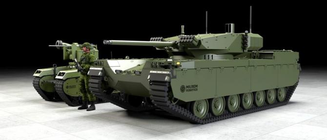 Vehicule militare terestre robotizate. Sursa Foto: Milrem-Robotics