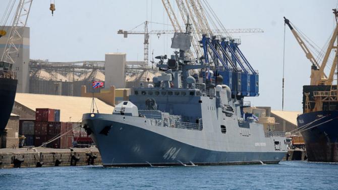 O navală a Marinei Ruse în Marea Roşie - Port Sudan. Sursa Foto: Marina Rusă