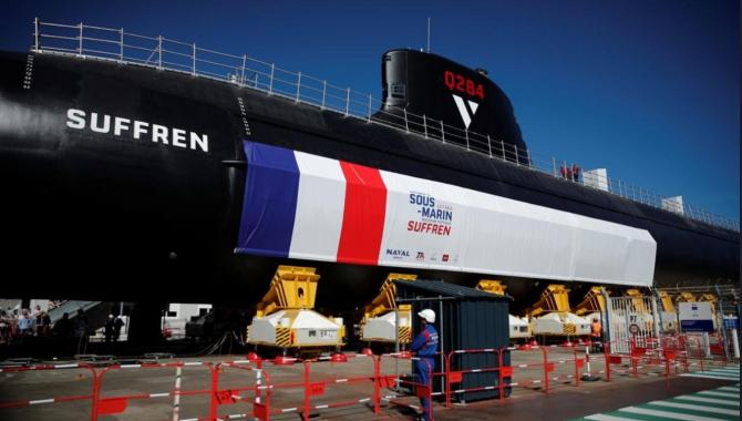 "Submarinul nuclear ""Suffren"" din clasa Barracuda al Marinei franceze. Sursa Foto: Naval Group"
