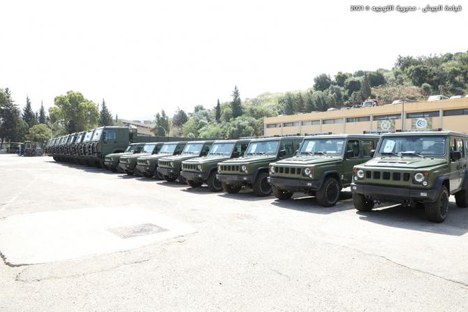 Vehicul B80VJ Sursa foto: Lebanon Army/Twitter